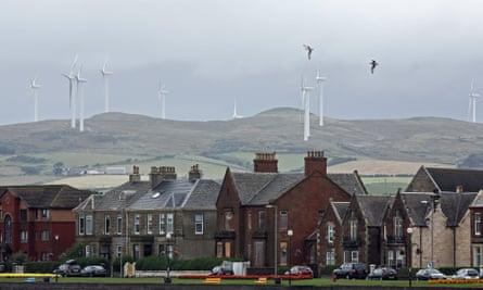 The Ardrossan windfarm in Scotland