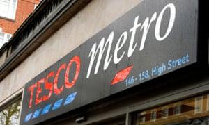 A Tesco Metro store