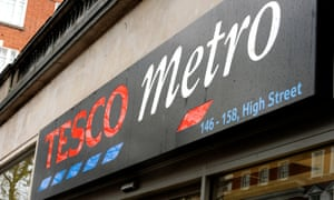 A Tesco Metro store in central London.