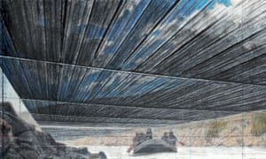 Art must never silence itself … a study for Christo's Over The River project.
