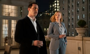 Kendall (Jeremy Strong) and Shiv (Sarah Snook) in Succession.