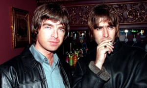 'Yeah, global dominance' … Noel and Liam Gallagher shortly after the album's release.