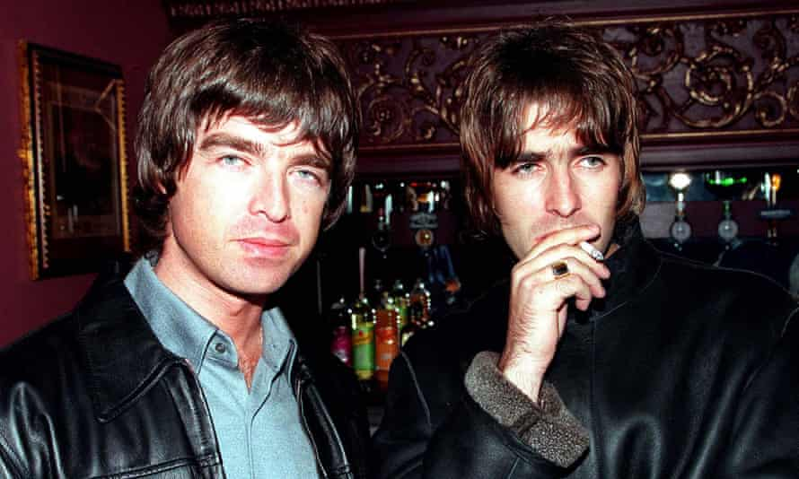 Magpie eyes ... Noel and Liam Gallagher in 1995.