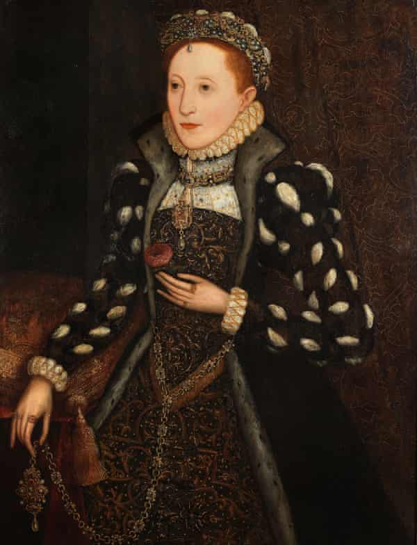 Long-lost overpainted portrait reveals young Queen Elizabeth I | Painting |  The Guardian