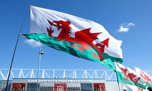 The Wales flag in Cardiff