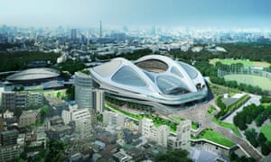 Zaha Hadid's design for the National Stadium for the 2020 Tokyo Olympics.
