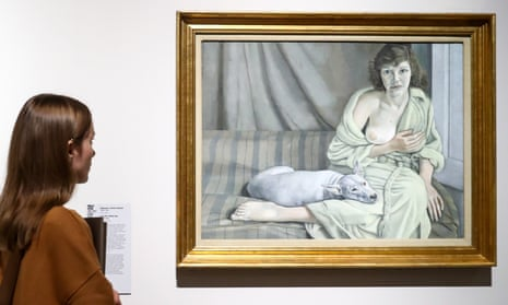 Girl with a White Dog (1950-51) by Lucian Freud.