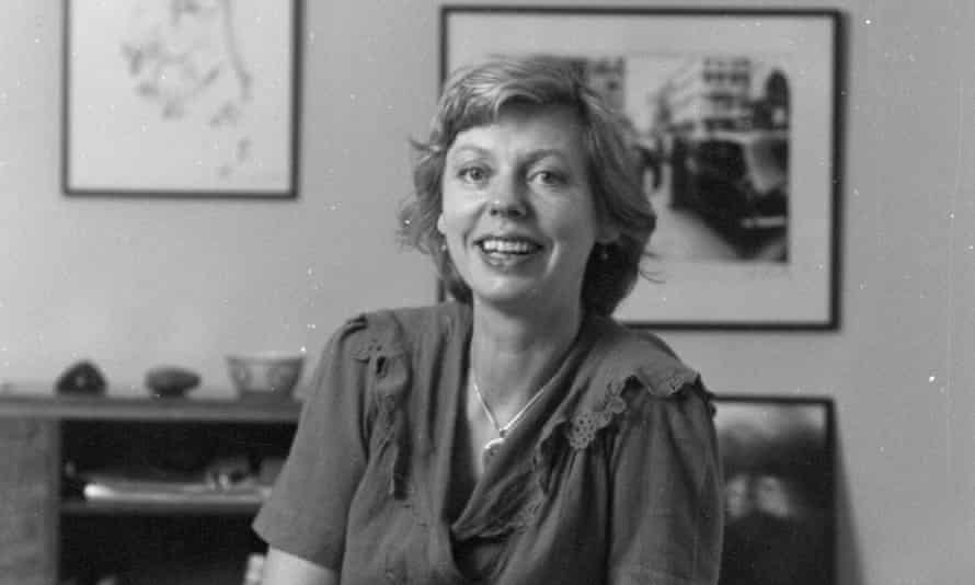Sue Davies in her office in the early 1970s