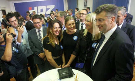 Croatian conservative party activists