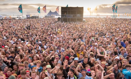 Crowds at Boardmasters festival, Newquay.