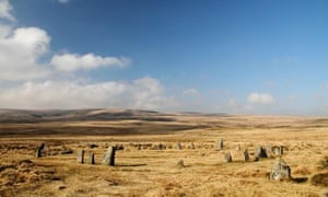 The newly discovered stone circle is the second largest on the moor.