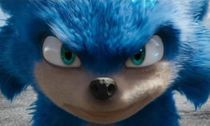 Sonic the Hedgehog as he appears in the trailer for the forthcoming movie.