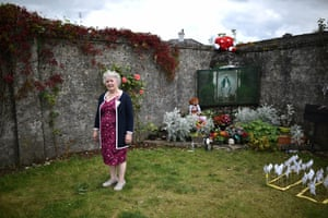 Carmel Larkin attends a vigil at a mother and baby home, where hundreds of young children died, in Tuam, Ireland