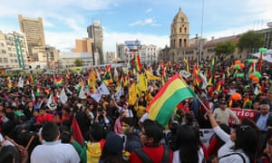 Opponents of Evo Morales in La Paz, 21 February 2019.