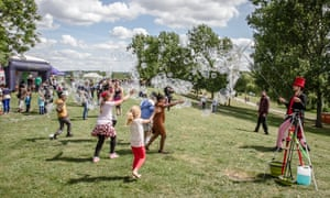 Children play at the new Thamesmead arts festival in 2015.