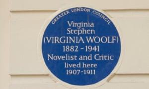 Blue plaque to Virginia Stephen (Virginia Woolf)