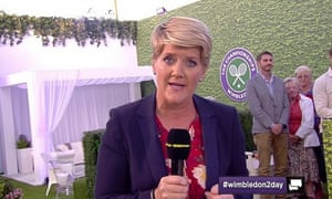 Wimbledon 2day featuring Clare Balding: faced a volley of abuse from viewers.
