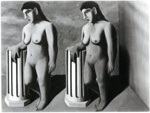 René Magritte's missing painting The Enchanted Pose