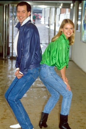 Michael Barrymore and Anneka Rice in 1986