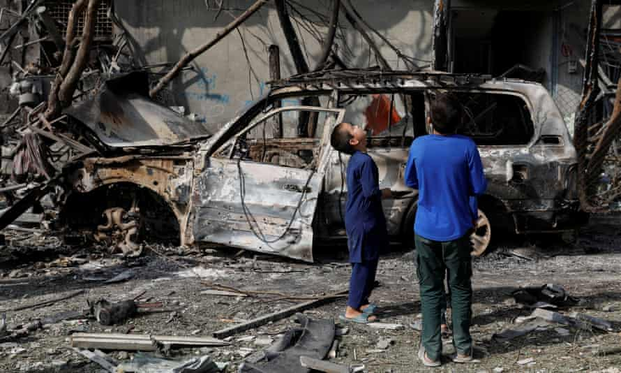Aftermath of a bomb attack in Kabul on 29 July 2019. 'It is clear that the pro-government forces lack both the will and procedures to protect the Afghans they are supposed to be defending.'