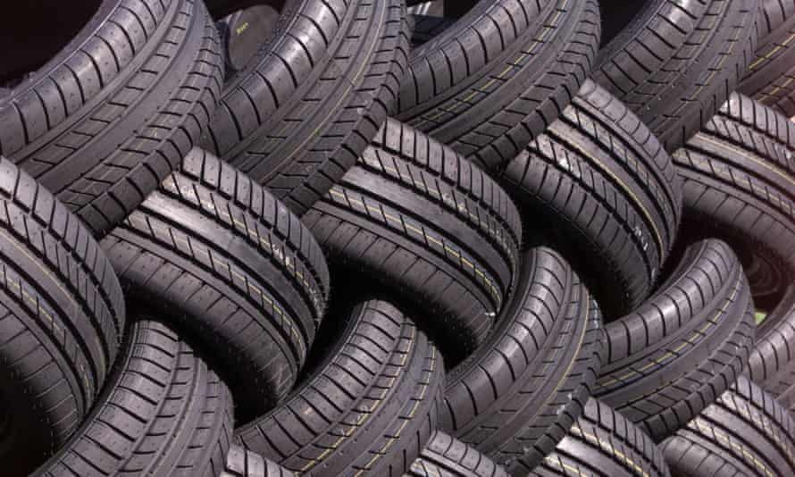 A mound of tyres