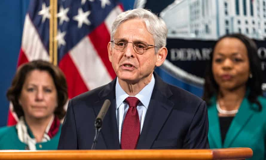 Merrick Garland, the attorney general, on Friday. Garland also announced Friday the DoJ was forming a taskforce to investigate threats against election workers.