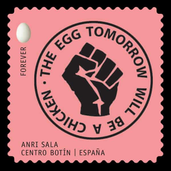 Anri Sala stamp design for These Times