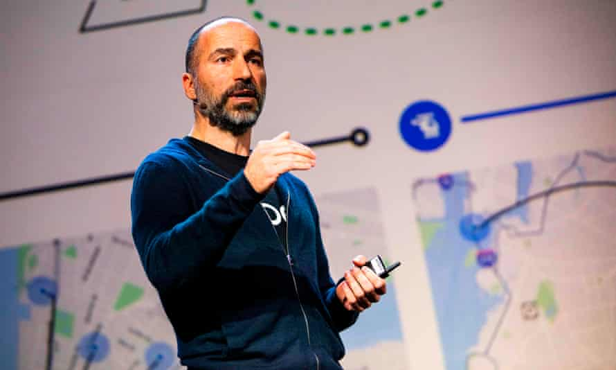 Uber chief Dara Khosrowshahi said of Saudi Arabia: 'I think that people make mistakes, it doesn't mean that they can never be forgiven. I think they have taken it seriously.'