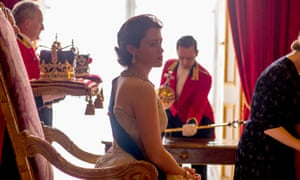 Claire Foy as Queen Elizabeth II in the Crown, a Netflix drama.
