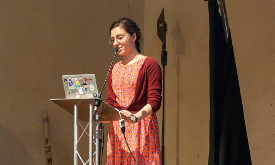 Maria-Livia Chiorean at the Guardian Hack Day 2016