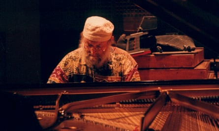 Terry Riley at the piano.