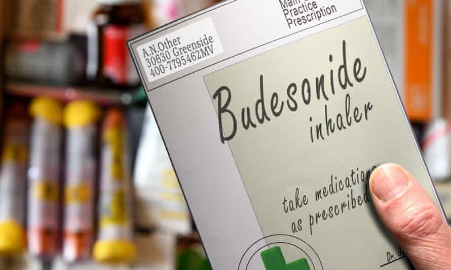 Budesonide box in a hand