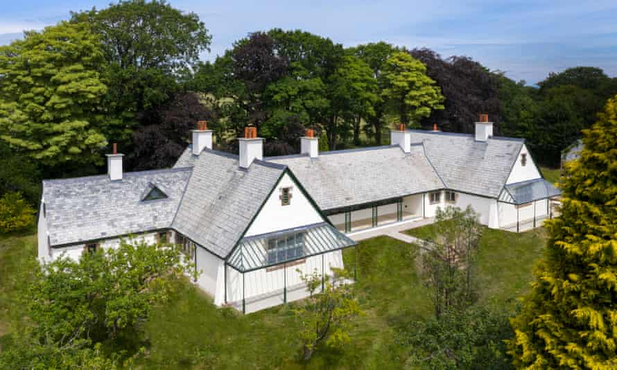 The ex-hospital at Winsford, Halwill Junction near Beaworthy, Devon, left, will open next year for stays to help counteract stress and anxiety.