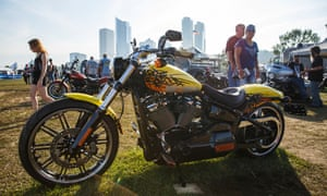 The 115th Harley-Davidson Anniversary celebration at Vetrans Park in downtown Milwaukee, Wisconsin.