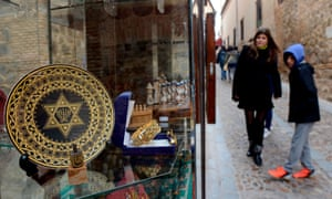 A gift shop in the old Jewish quarters of Toledo, where Jews were expelled five centuries ago.