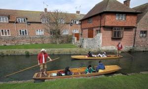 Punting in Canterbury