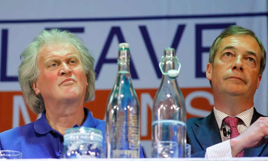Tim Martin with Nigel Farage