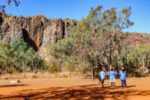 The female rangers camp at Windjana Gorge in the Kimberley