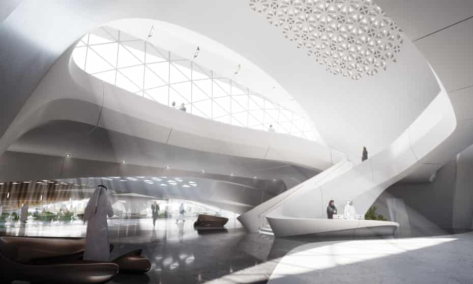Office of the future? … how the Bee'ah office building in Sharjah, designed by Zaha Hadid Architects, will look.