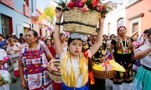 a religious procession through the town.
