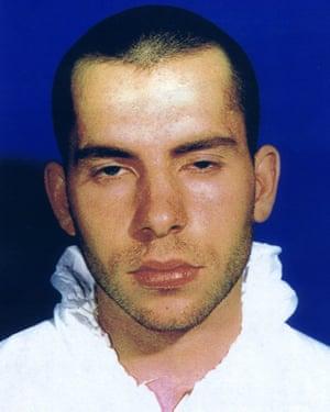 A police photograph of David Copeland.