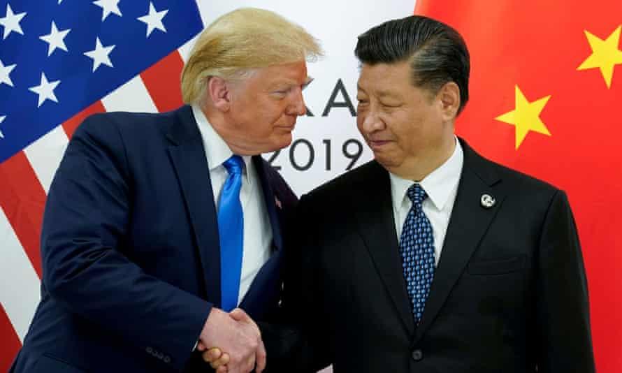 Donald Trump and Xi Jinping in Osaka, Japan, on 29 June.