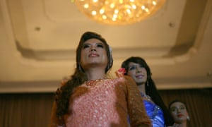 Supporters of Myanmar's lesbian, gay, bisexual and transgender community perform at an event in Yangon marking international day against homophobia and transphobia