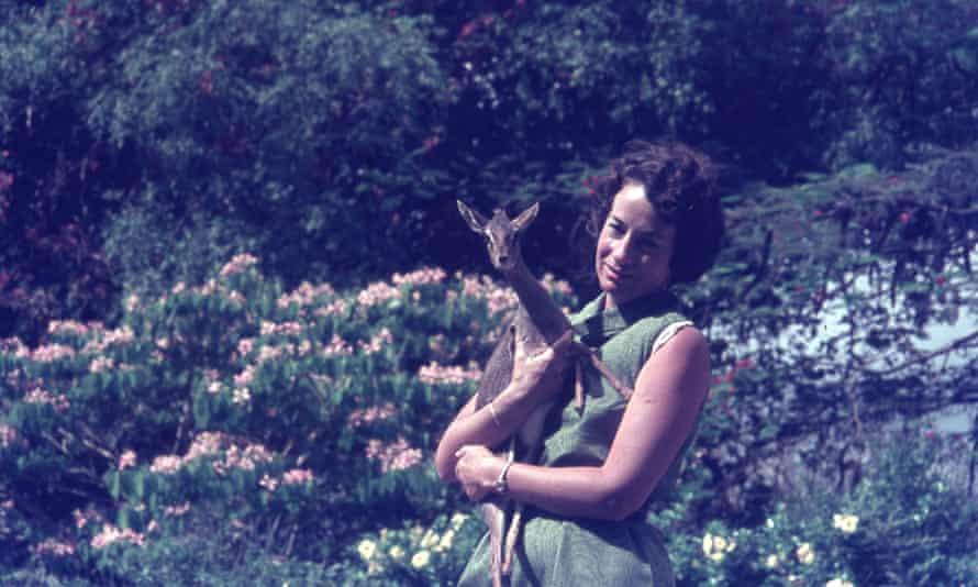 Daphne Sheldrick and antelope.