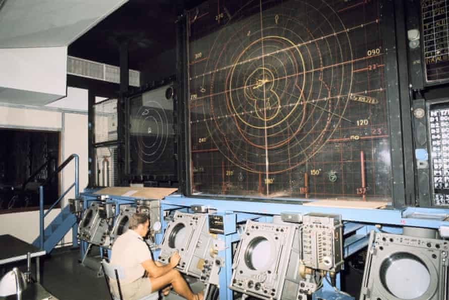 Nuclear Testing Site At Mururoa In Polynesia in 1970.
