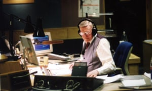 Sir Jimmy Young in his Radio 2 studio.