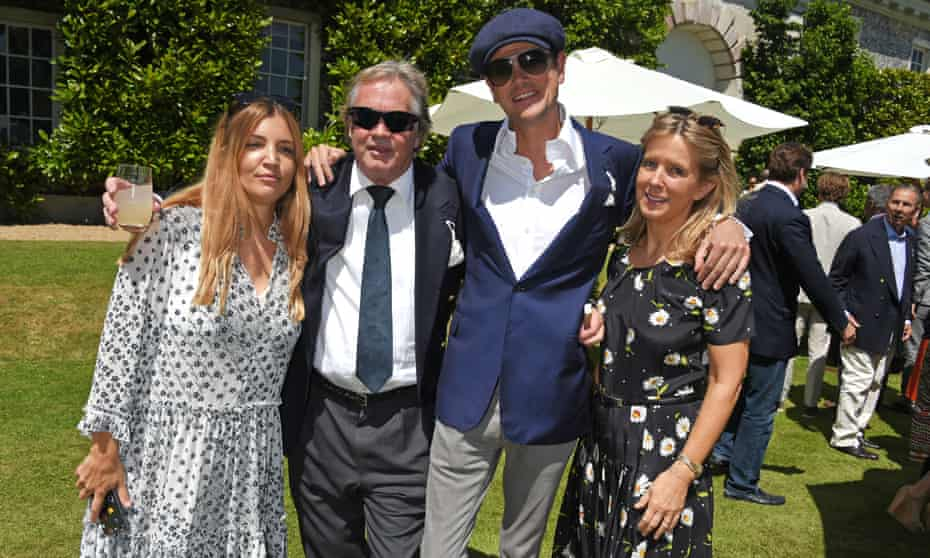The Duke and Duchess of Marlborough, with Alexander and Scarlett Spencer-Churchill, at Goodwood in July.