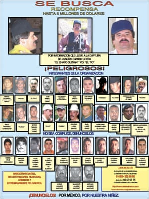 "Joaquin ""El Chapo"" Guzmán, once one of Mexico's most powerful drug lords, and 36 of his associates."