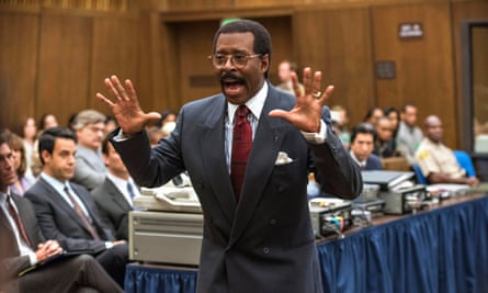 Courtney B Vance as Simpson's barrister Johnnie Cochran in The People v OJ Simpson.