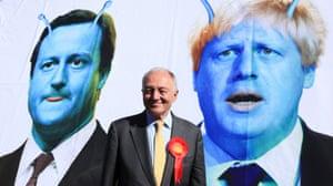 Livingstone campaigning to regain the job of London mayor, 2012.